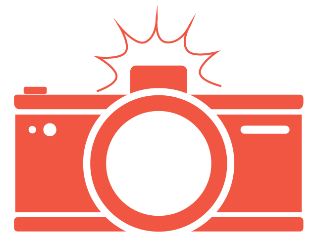 camera with flash graphic