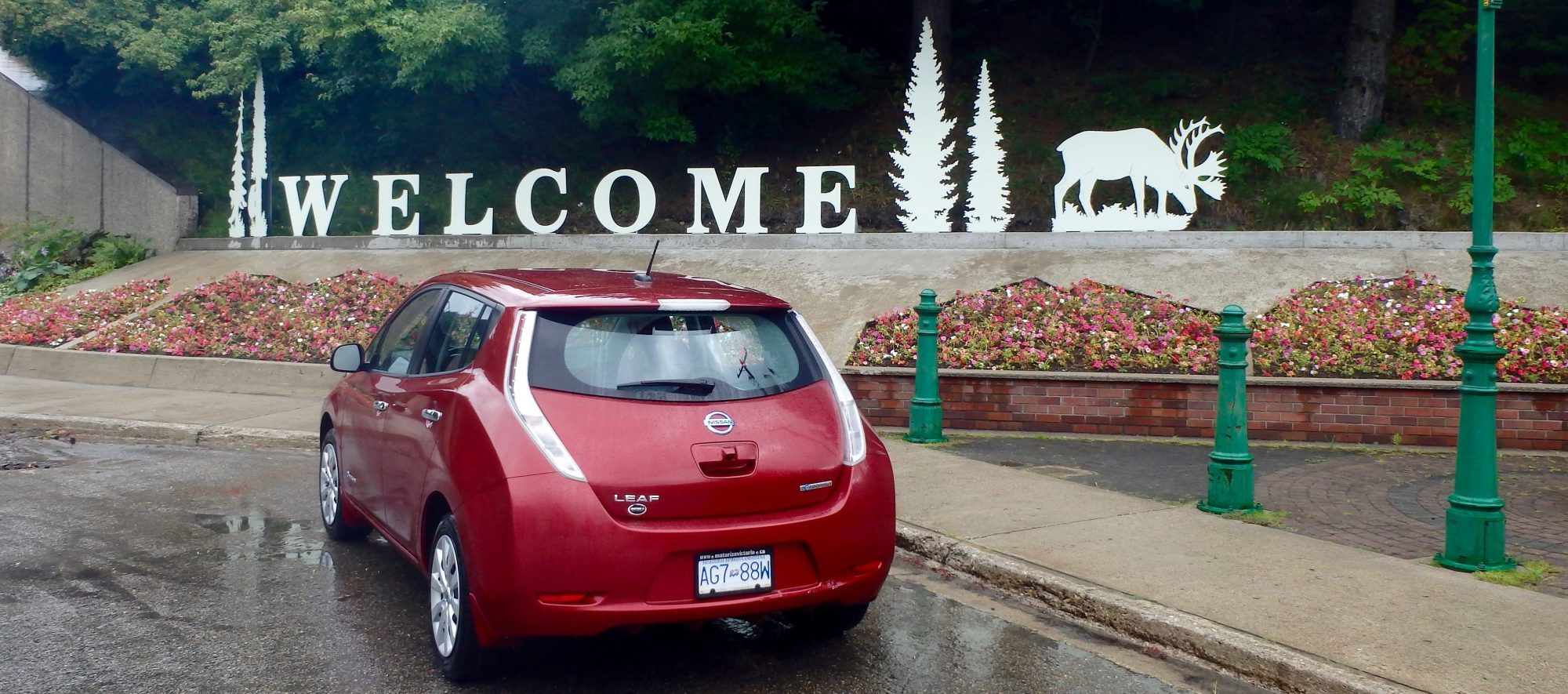 Electric Vehicle EV reaches Revelstoke BC
